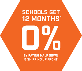 Schools get 12 months 0% by paying half down and shipping up front.