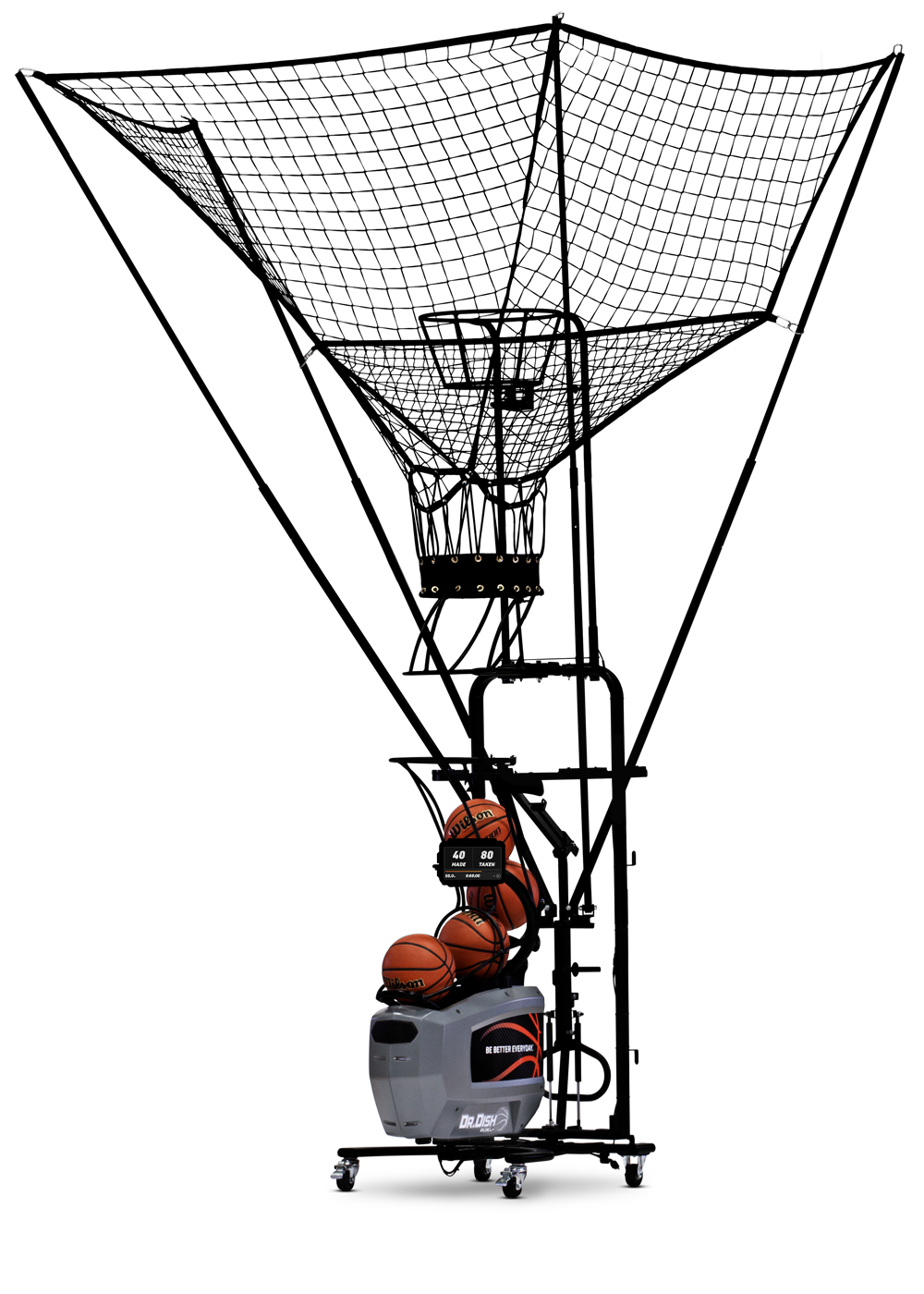 Dr. Dish Rebel+ Basketball Shooting Machine