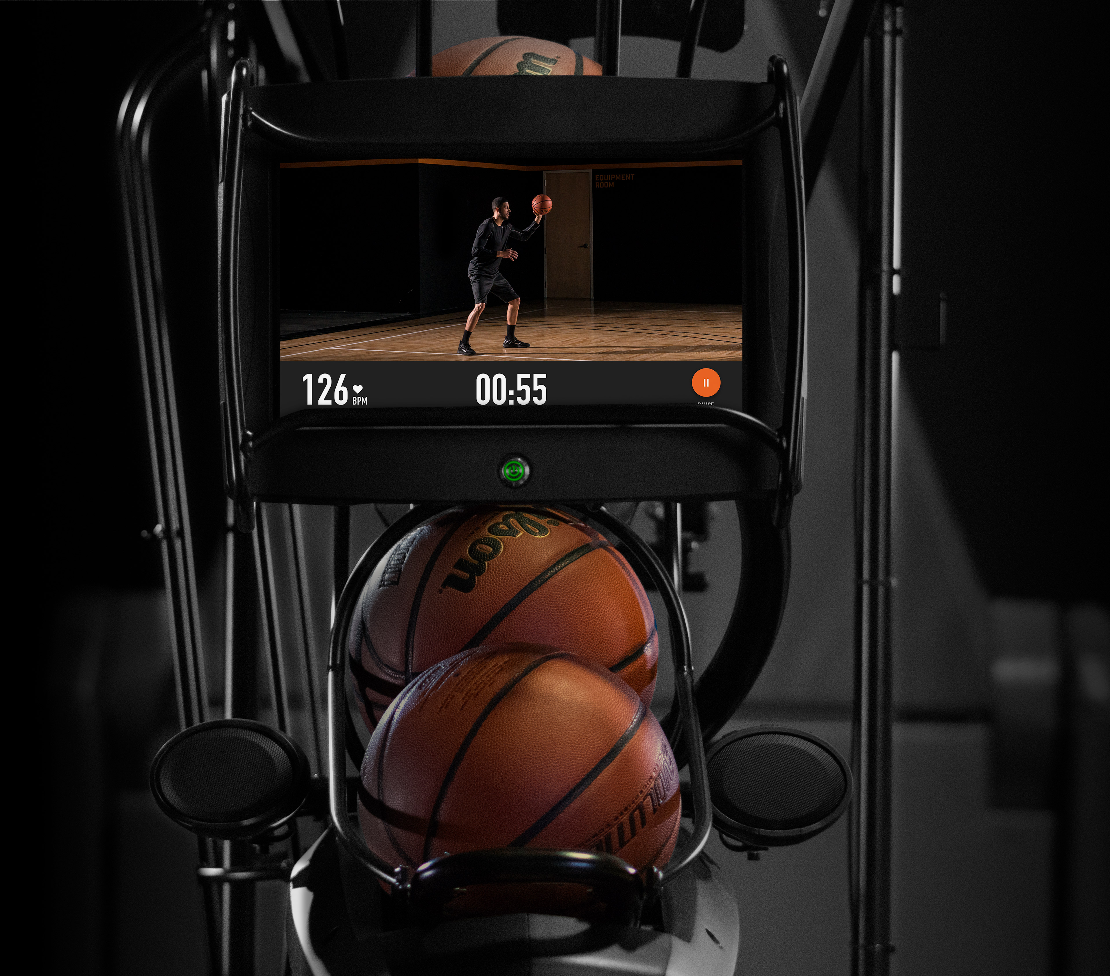 Dr. Dish CT basketball shooting machine with on-demand training video