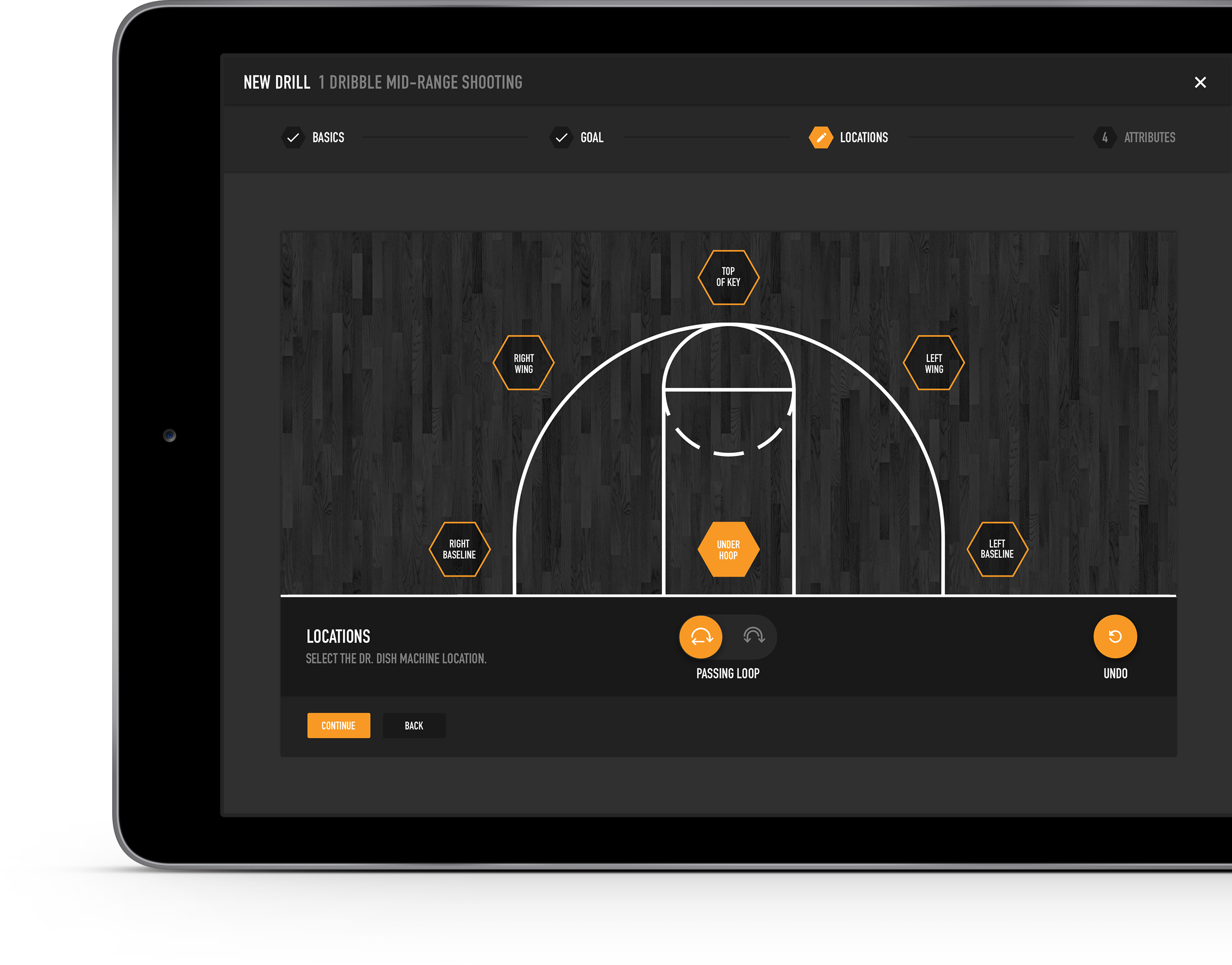 Dr. Dish Basketball Shooting Machine App and Workout