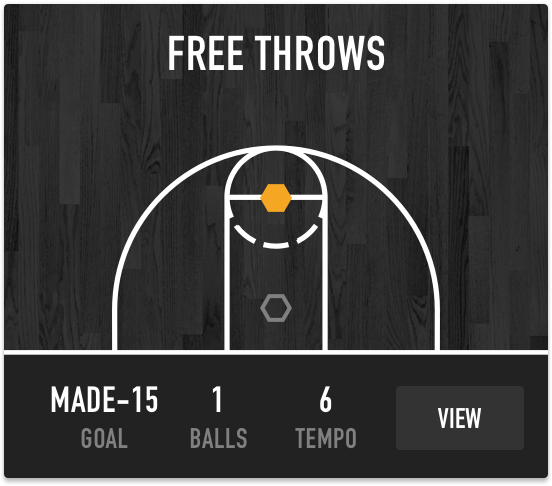 Free throws on Dr. Dish Basketball Shooting Machines