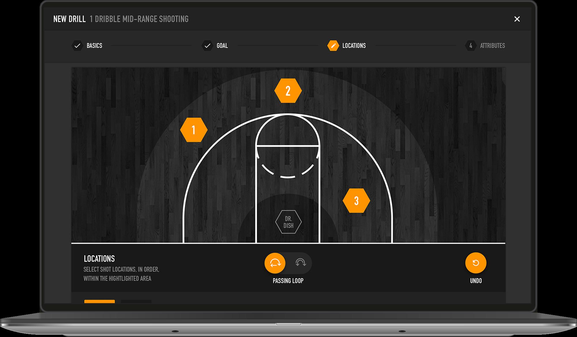 Dr. Dish All-Star Basketball Training Machine- Custom Drills
