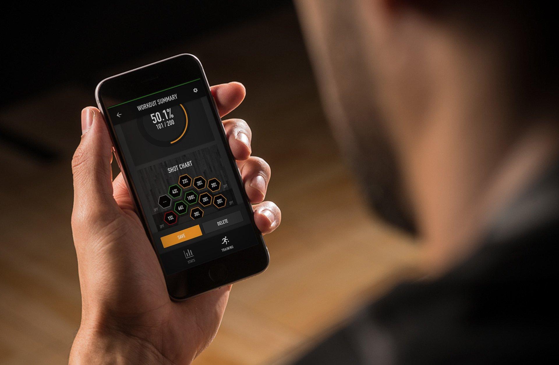 Phone App | Dr. Dish Basketball Shooting Machine