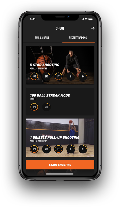 Dr. Dish Home Basketball Passing Machine- App, Recent Workouts