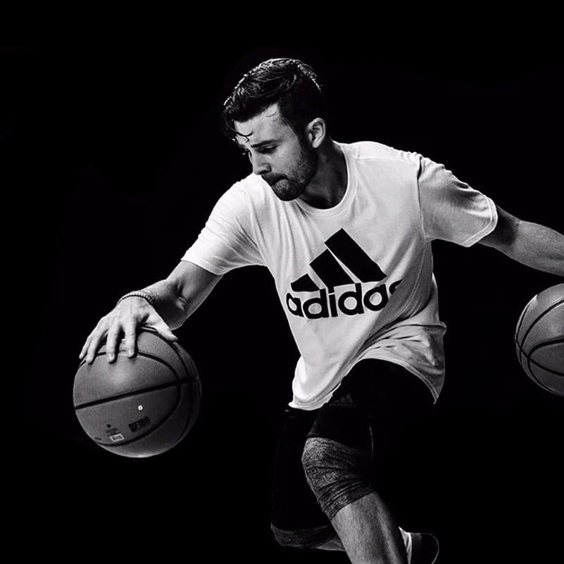 Dr. Dish basketball pro skills trainer DJ Sackmann of DJ Sackmann Basketball