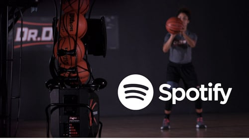 Dr. Dish CT basketball shooting machine with Spotify
