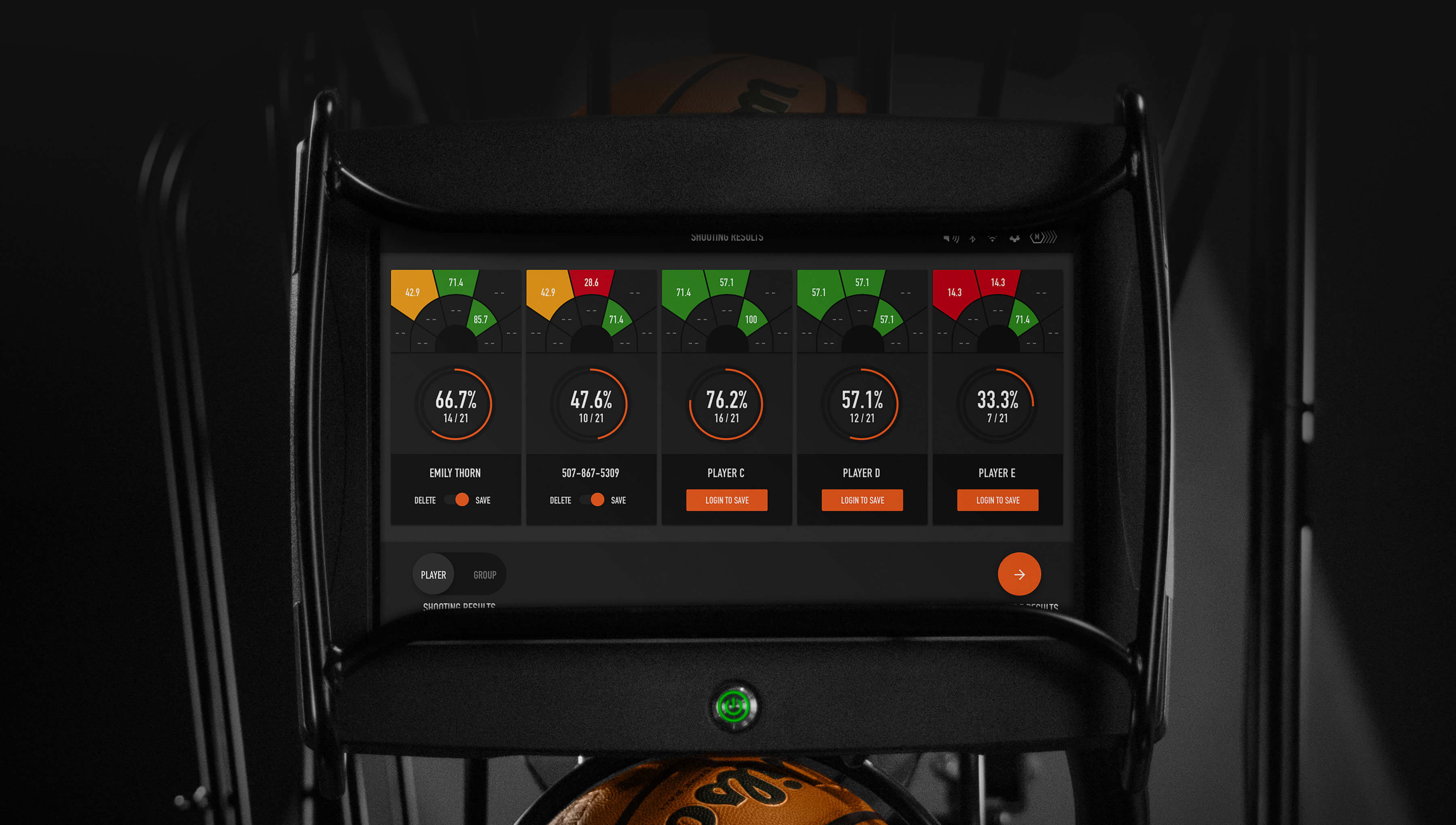 Dr. Dish Basketball Training Management System- Multi-Player-Shooting