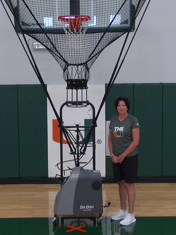 Miami Womens Katie Meier Dr. Dish Basketball Shooting Gun