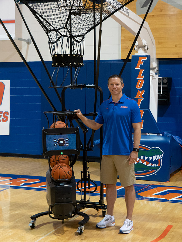 Mike White Florida Basketball Shooting Machine