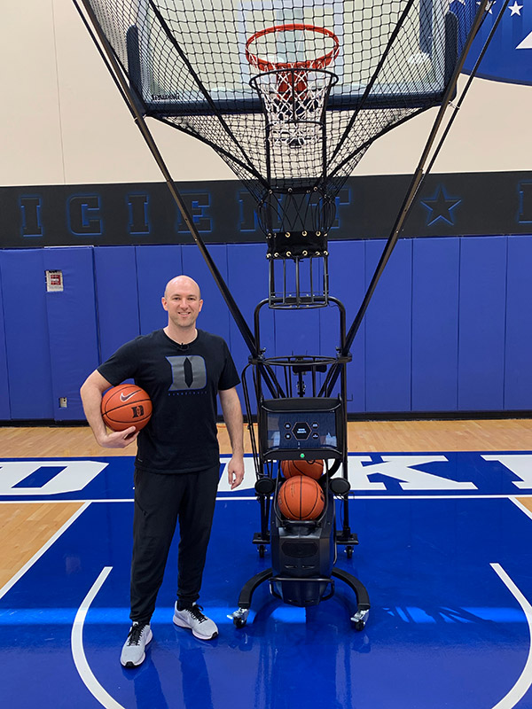 Sam Miller Duke Basketball Shooting Machine