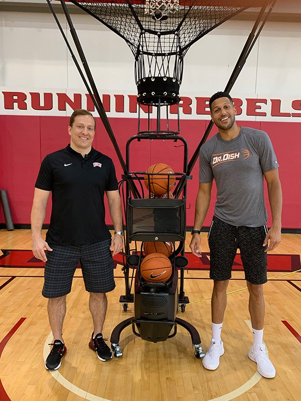 TJ Otzelberger UNLV Dr. Dish Basketball Shooting Gun