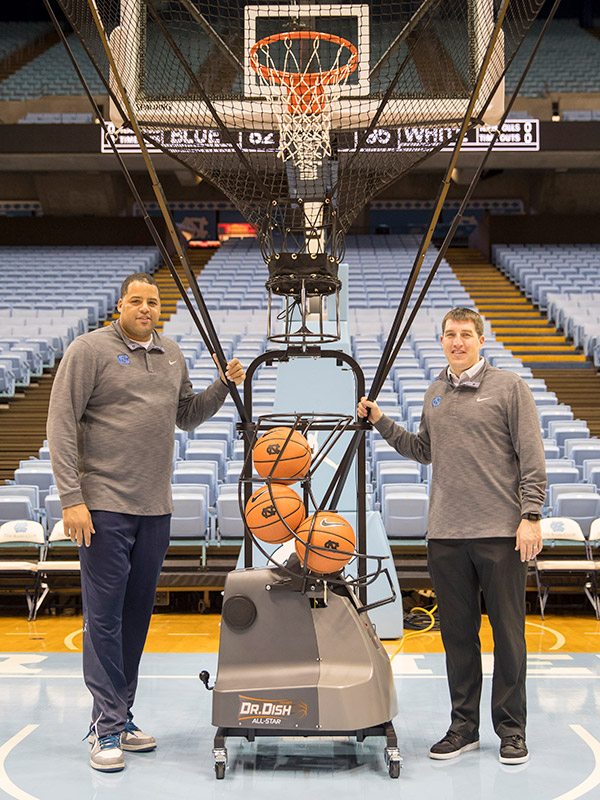 UNC Dr. Dish Basketball Shooting Machine