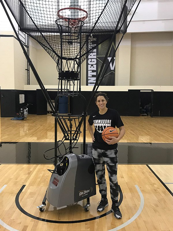 Vanderbilt Stephanie White Dr. Dish Basketball Shooting Machine