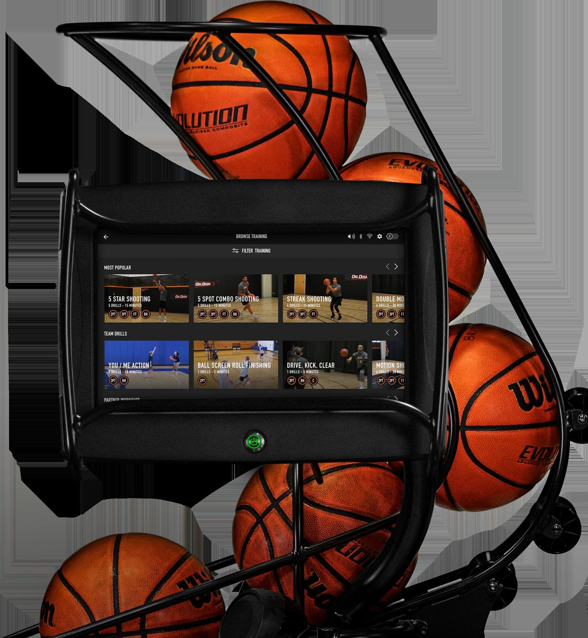 Dr. Dish CT Basketball Rebounding Machine- Training Library